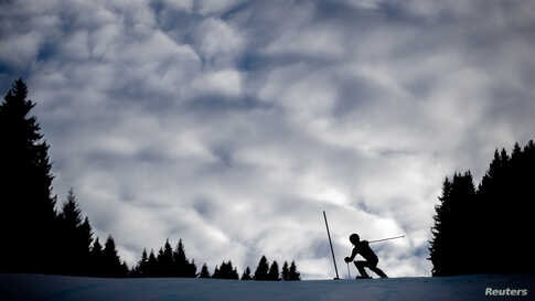 Olympics - 2020 WinaLebanon's Ray Iskandar competes in the Alpine Skiing Men's Slalom Run 2 at Les Diablerets Alpine Centre in in Lausanne, Switzerland, during the 2020 Lausanne Winter Youth Olympic Games.ter Youth Olympics - Les Diablerets Alpine Centre, Les Diablerets, Switzerland - January 14, 2020   Lebanon…
