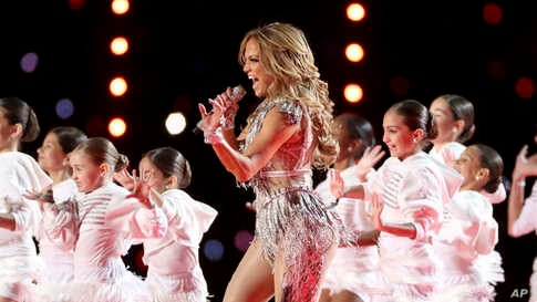 Jennifer Lopez performs during the halftime show at Super Bowl 54 on Feb. 2, 2020, in Miami Gardens, Fla.