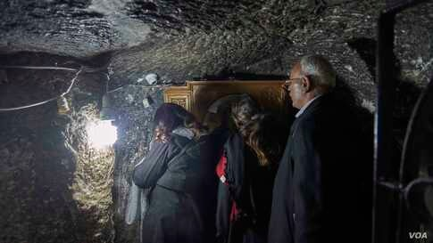 This cave is one of the main spots where the holly family inhibited, now is located inside the church and monastery of the Virgin Mary, where Christians from all over the world visit it for blessings.(Hamada Elrasam/VOA)