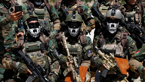 Afghan Special Forces attend their graduation ceremony in Kabul.
