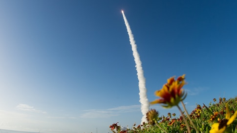 A United Launch Alliance Atlas V rocket with NASA's Mars 2020 Perseverance rover onboard launches from Space Launch Complex 41, at Cape Canaveral Air Force Station in Florida.