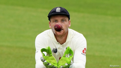 Cricket - Second Test - England v Pakistan - Ageas Bowl, Southampton, Britain - August 13, 2020   England's Jos Buttler in…