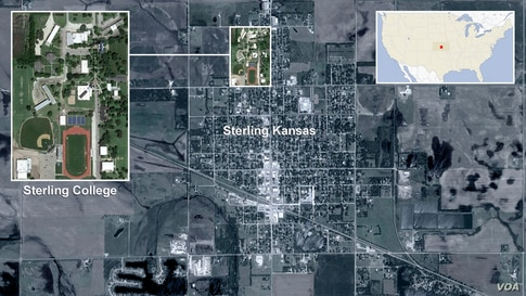 Map of Sterling College, Kansas