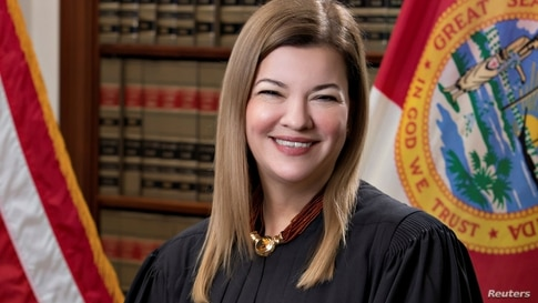 Florida Supreme Court Justice Barbara Lagoa, currently a United States Circuit Judge of the United States Court of Appeals for the Eleventh Circuit, poses in a photograph from 2019 obtained Sept. 19, 2020.