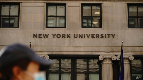 New York University on August 22, 2020.