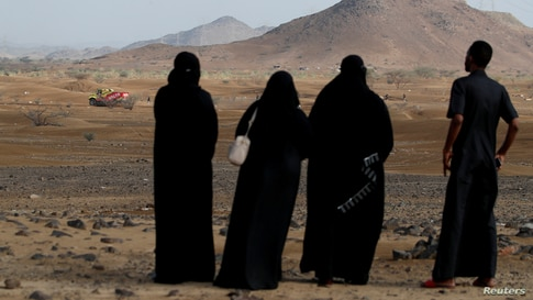 Rallying - Dakar Rally - Jeddah, Saudi Arabia - January 1, 2021   General view as locals look on during the shakedown stage at…