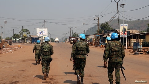 Peacekeepers from the United Nations Multidimensional Integrated Stabilization Mission in the Central African Republic (MINUSCA…