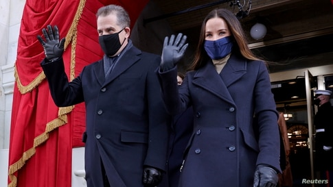 Hunter Biden and Ashley Biden arrive before the inauguration of Joe Biden as the 46th President of the United States.