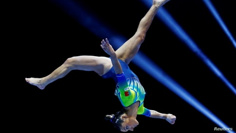 Portugal's Filipa Martins competes in the 2021 European Artistic Gymnastics Championships in Basel, Switzerland, April 23, 2021