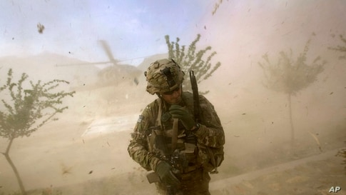 2nd Lt. Andrew Ferrara, 23, of Torrance, Calif., with the U.S. Army's Bravo Company of the 25th Infantry Division, 3rd Brigade.