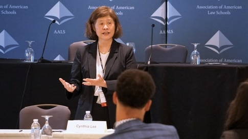 Cynthia Lee, a George Washington University professor and an expert on race and self-defense at a AALS new law teacher's workshop.