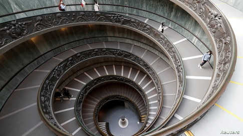 People visit the Vatican Museums at the Vatican on the day of its reopening after weeks of closure, as Italy eases COVID-19 restrictions.