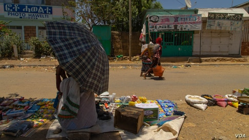 Since the beginning of the war in November 2020, his little town in the Tigray region, in Ethiopia, on June 6, 2021 (VOA/Yan Boechat)