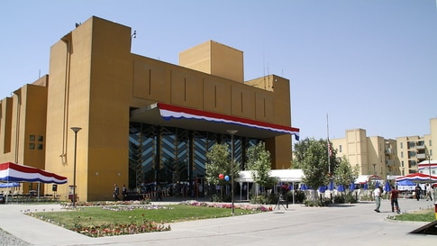 FILE - The U.S. embassy building is seen in Kabul, Afghanistan, July 4, 2010.