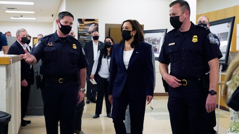 Vice President Kamala Harris visits the Paso del Norte (PDN) Port of Entry in El Paso, Texas, Friday, June 25, 2021.