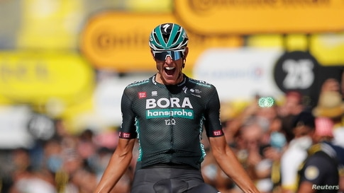 Cycling - Tour de France - Stage 12 - Saint-Paul-Trois-Chateaux to Nimes - France - July 8, 2021 Bora–Hansgrohe rider Nils…