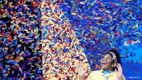 Zaila Avant-garde, 14, from New Orleans, Louisiana, wins the 2021 Scripps National Spelling Bee Finals at the ESPN Wide World…
