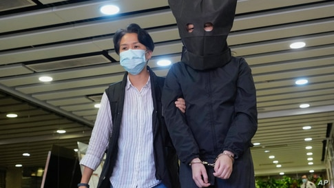 Hong Kong's national security police arrest five people from a trade union of the General Association of Hong Kong Speech Therapists on suspicion of conspiring to publish and distribute seditious material.