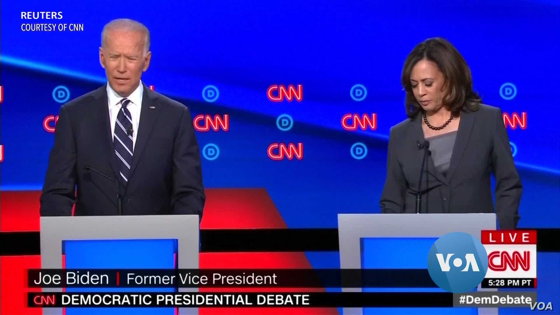 Rivals Go After Biden in Democratic Debate