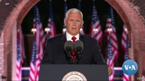 Accepting VP Nomination, Pence Makes Case for Trump 2nd Term