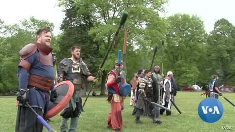 Foam-Fighting: A New Take on Historical Re-Enactment