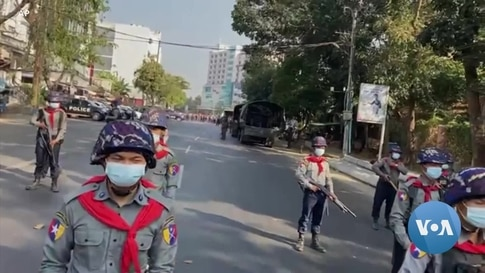 Myanmar Military Cracks Down on Protests Against Coup