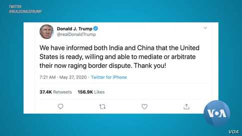 Trump Offers To Mediate in India-China Border Dispute