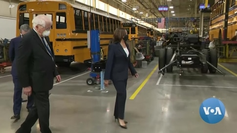 Biden Pushes Plan to Boost Electric Bus Production