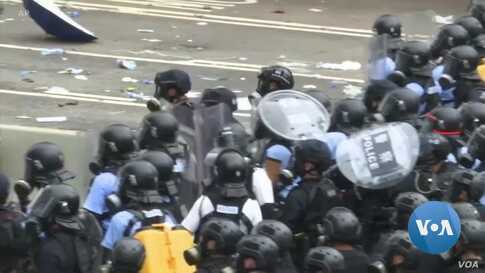 Hong Kong Protest Turns Violent