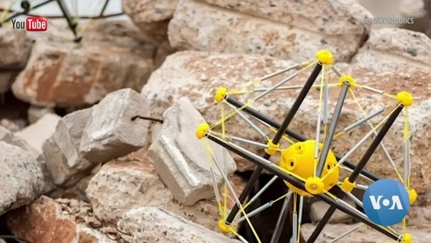 A 'Soft' Robot Dropped by Drone Helps First Responders