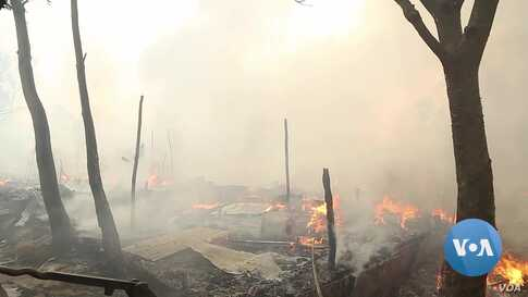 Massive Fire Damages Homes, Shops in Overcrowded Rohingya Refugee Camp