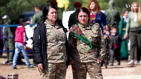 Kurdish Women Who Fought IS in Northeast Syria Celebrate Women's Day