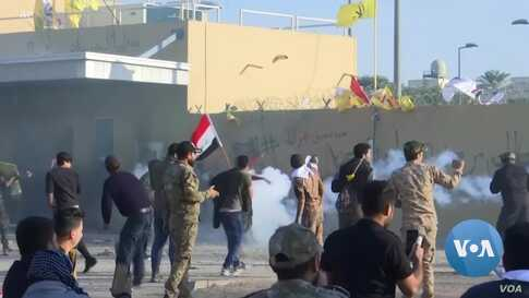Protesters Storm US Embassy in Iraq as Tensions Escalate Between Tehran, Washington