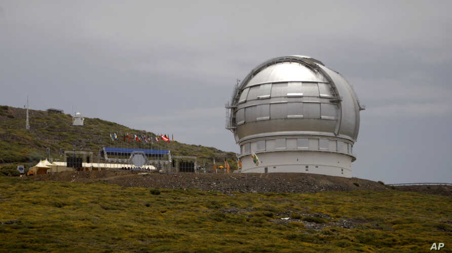 FILE - The Gran Telescopio Canarias, one of the the world's largest telescopes, is viewed at the Observatorio del Roque de los Muchachos on the Canary Island of La Palma, Spain.