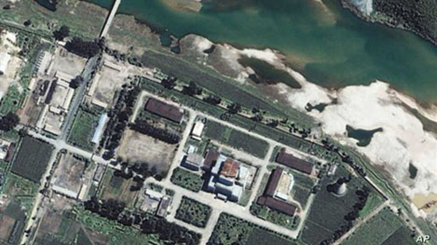 This satellite image provided by Space Imaging Asia shows the Yongbyon Nuclear Center, located north of Pyongyang, North Korea (2002 file photo)