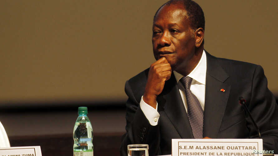 Ivory Coast President Alassane Ouattara attends the sixth joint AU/ECA Conference of African Ministers of Finance and Economic Development in Abidjan, Ivory Coast, March 25, 2013.