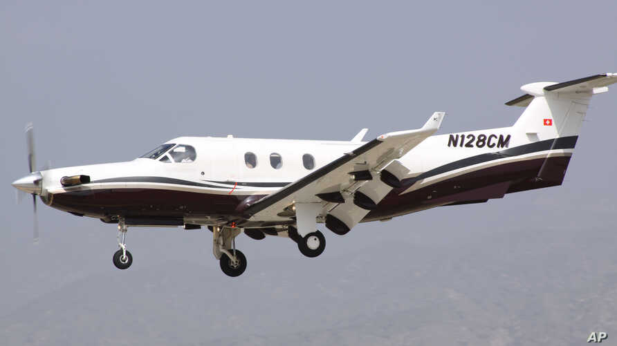 A single-engine turboprop PC-12, the type of plane the U.S. military is reportedly using to record video, track infrared heat patterns, and catch radio and cellphone signals in Africa.
