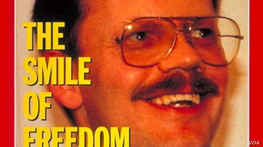 Time magazine cover of American hostage Terry Anderson. in the Dec. 1991 edition (courtesy Time Inc./AL JAWAD / SIPA)