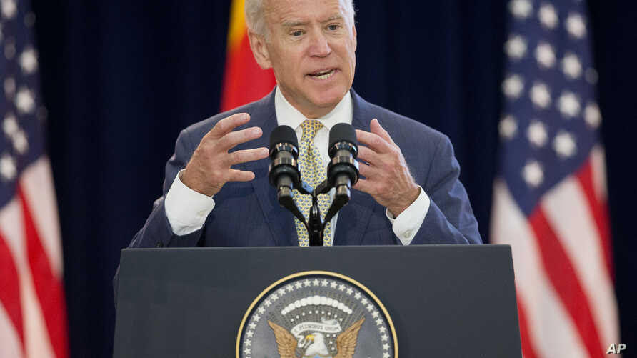 U.S. Vice President Joe Biden speaks at the 7th U.S.-China Strategic and Economic Dialogue (S&ED) and 6th Consultation on People-to-People (CPE) at the U.S. State Department in Washington, June 23, 2015.