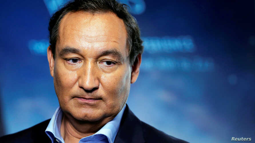 FILE - Chief Executive Officer of United Airlines Oscar Munoz in New York, June 2, 2016.