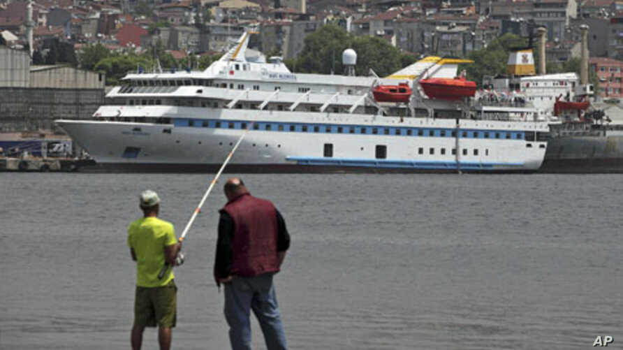 Turkish ship Mavi Marmara - on which last year's killings took place and which withdrew from this month's attempt to break Israel's economic blockade of Gaza - is pictured under maintenance in a shipyard in Istanbul, May 30, 2011 (file photo)