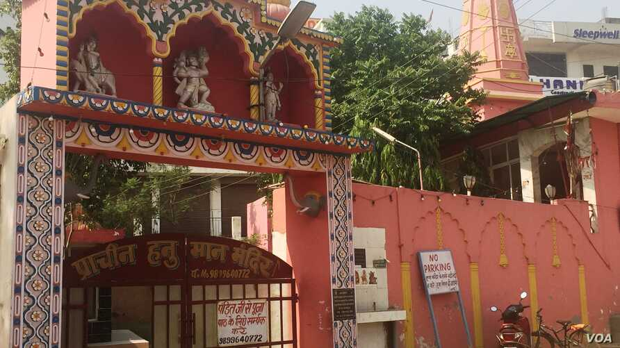 A handful of Hindu temples have placed restrictions on their entry citing age-old traditions. (A. Pasricha/VOA)