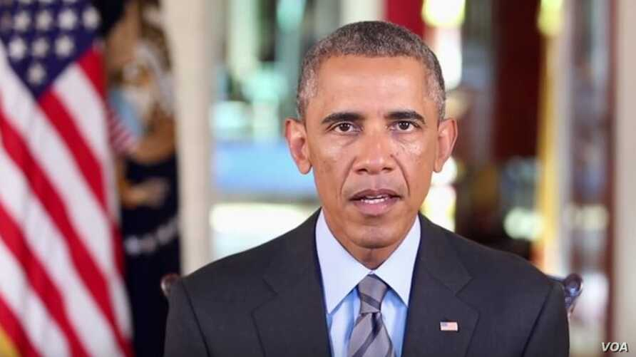 President Barack Obama spoke about the mass shooting earlier this week in San Bernardino, California, during his weekly Saturday address, Dec. 5, 2015.
