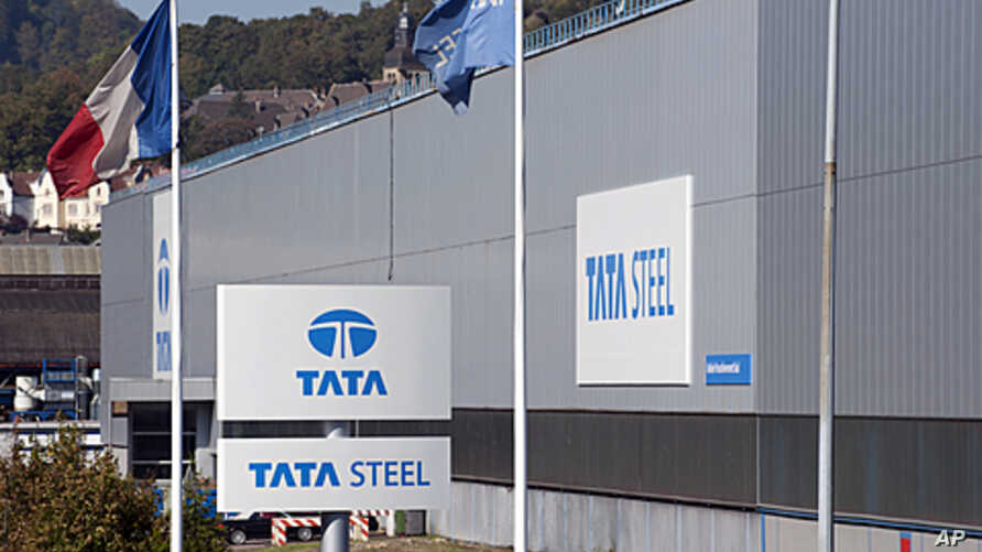 This picture shows the Tata Steel France Rail plant in the French northeastern town of Hayange, during the inauguration day of this rail facility on September 29, 2011.
