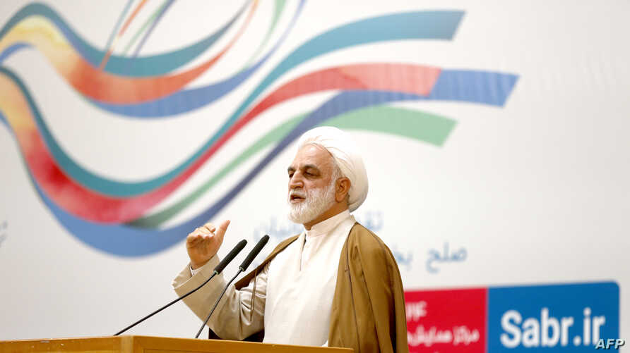 FILE - Gholam Hossein Mohseni Ejeie, deputy of the Chief Justice of Iran, March 14, 2017.