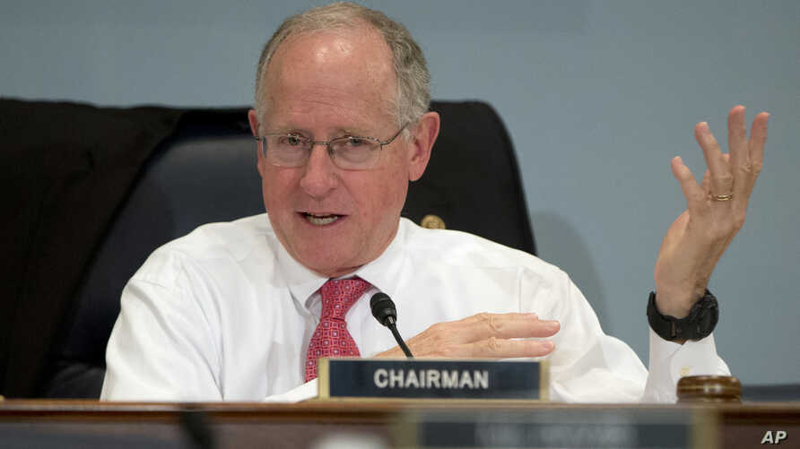 FILE - In this Oct. 7, 2015 photo, Rep. Mike Conaway, R-Texas, speaks on Capitol Hill in Washington. Conaway is leading the House probe into Russian interference in the 2016 presidential election.