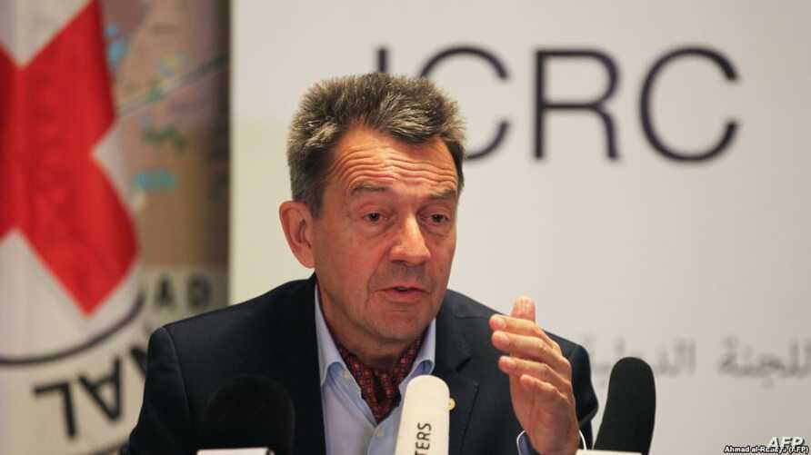 FILE- Peter Maurer, President of the International Committee of the Red Cross (ICRC).