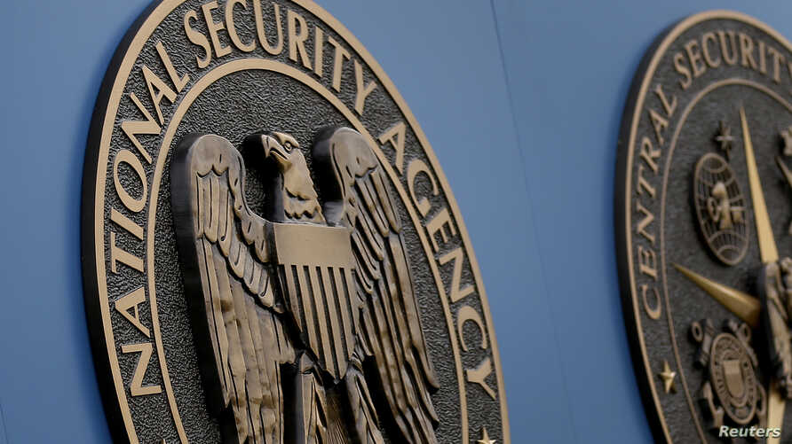 (File) A sign stands outside the National Security Administration (NSA) campus in Fort Meade, Maryland.