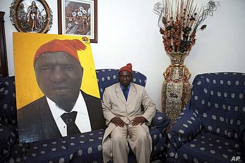 Guinea-Bissau presidential candidate Kumba Yala poses in his residence, Bissau, March 17, 2012.