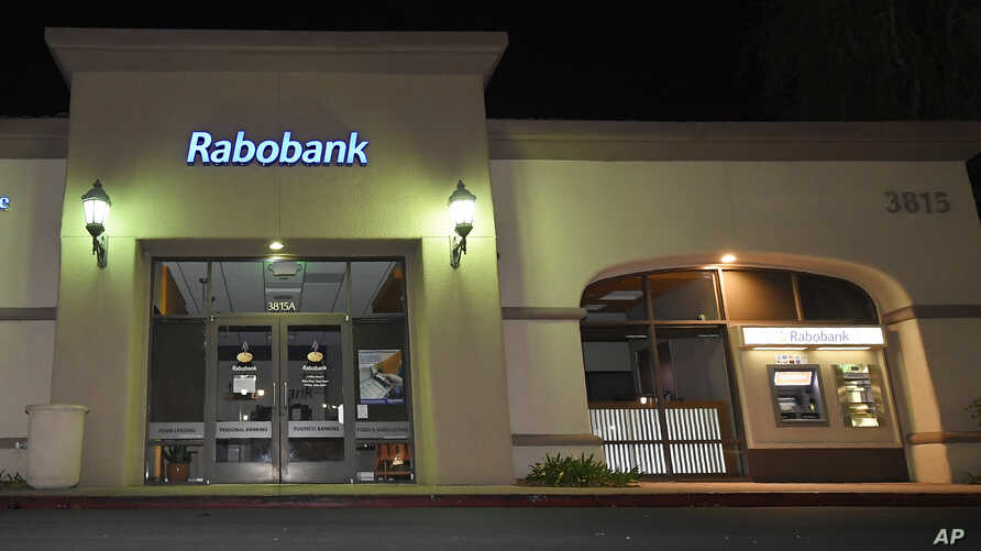 A Rabobank bank location in Thousand Oaks, Calif., Feb. 6, 2018. Dutch lender Rabobank's California subsidiary is to enter a plea a long-running investigation that led to allegations the bank was used to launder millions of dollars in Mexican drug mo